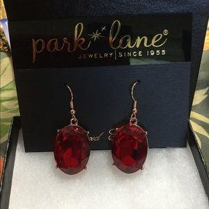 Park lane ruby colored earrings